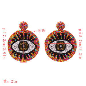 E-5423 Punk beads earrings devil's eye earrings color pendant earrings game peripheral products