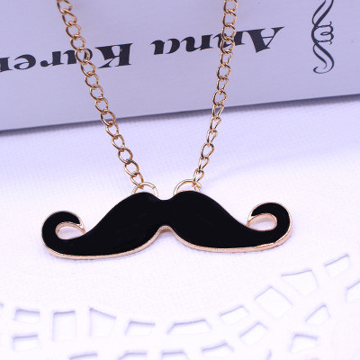 N-2790 Beard Dripping Long Necklace Simple Style Necklace