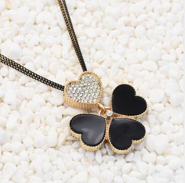 N-3096 Necklace Women Kolye Rhinestone Heart Shaped Frame Necklace Pendant Lady Jewelry Gothic Choker Collares Jewlery