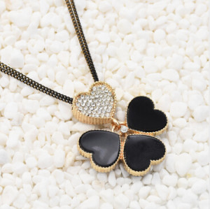 N-3096 Necklace Women Kolye Rhinestone Heart Shaped Frame Necklace Pendant Lady Jewelry Gothic Choker Collares Jewlery