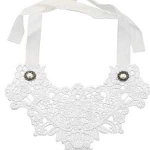 N-1636 Collar Bib Necklace Lace Flower Ribbon Collar Women Girl Clothing Accessories