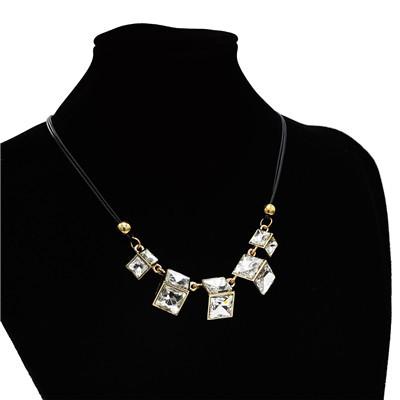N-3872 Multicolor Stylish Geometric Crystal Pendant Necklace Adjustable Women's Jewelry