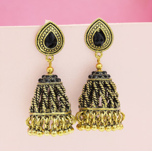 E-5438 Unique Gypsy Antique Gold Silver Metal Long Fringe Drop Earrings For Women Birthday Statement Earring