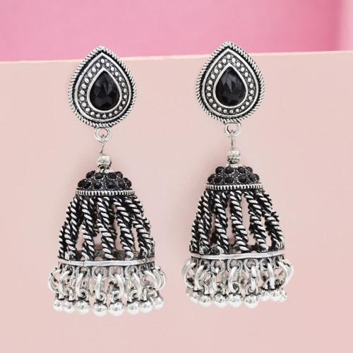E-5438 Unique Gypsy Antique Gold Silver Metal Long Fringe Drop Earrings For Women Birthday Statement Earring