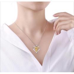 N-7287 2019 Love Distinction I Love Jesus Prayer Necklace Christian Jesus Hanging Christian Jewelry