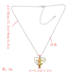 N-7287 2019 Love Distinction I Love Jesus Prayer Necklace Christian Jesus Hanging Christian Jewelry