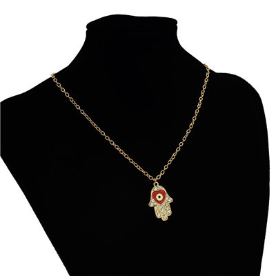 N-2796 New Fashion Gold Chain Rhinestone Finger shape Pendant  Unique Necklace For Women Party Jewelry