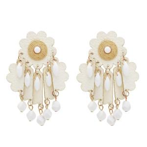 E-5443 4 color summer beach party earrings flower tassel earrings exaggerated youth earrings