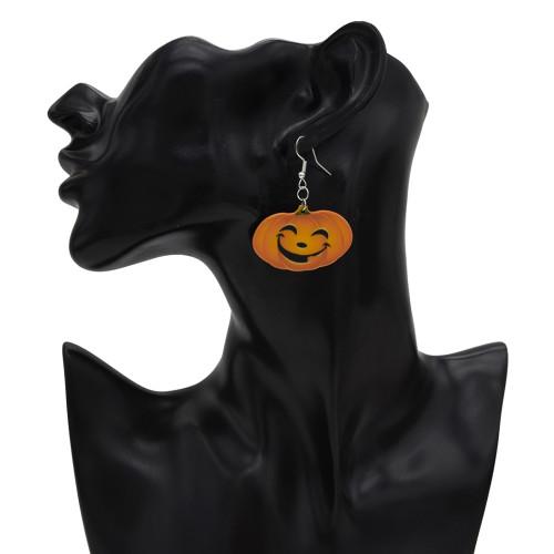 E-5446 Halloween Earrings Pumpkin Horror Boy Dropping Earrings Party Naughty Eardrop