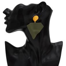 E-5453  5 Colors Marvel Surrounding Jewelry Geometric Design Sense Iron Man Shape Earrings