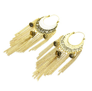 E-5475 Boho Vintage Indian Jhumka Tassel Drop Earrings for Women Ethnic Earring Jewelry 2019