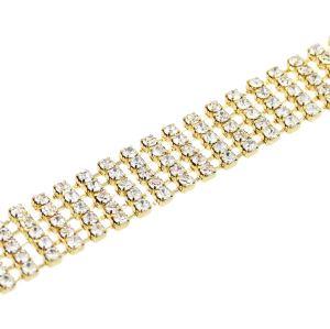 N-7303 Fashion Luxury Rhinestone Choker Crystal Necklace For Women Wedding Necklace Jewelry