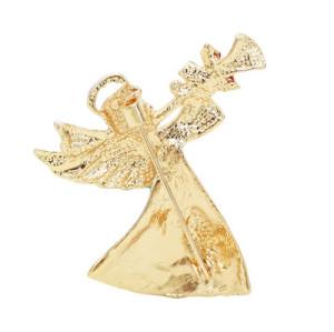 P-0444 2 Styles Golden Rhinestone Christmas Deer Female Angel Brooch Christmas Accessories Brooch