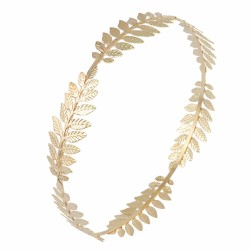 F-0369  3pcs Set Silver Gold Metal Hairbands For Women Leaf Crown Tiara Hair Jewelry Accessories