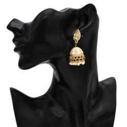 E-5510 Vintage Indian Drop Earrings Chandelier Earrings Gypsy Triabl Beaded Fashion Jewelry