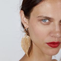 E-5371    Leaf earrings with golden hooks and light Pendant Earrings Jewelry For Women Design