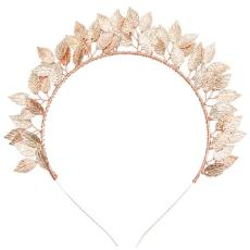 F-0397 New Shiny Alloy Copper Wire Leaves Traditional Handmade Costume Gold Plated Headwear Accessories Fashion Jewelry