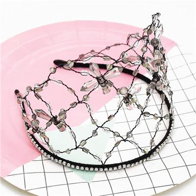 F-0692 Mesh Acrylic Rhinestone Elegant Wedding Headband Hair Accessories