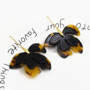 E-5531 Autumn and winter fashion flower earrings acrylic gold-plated lightweight earrings