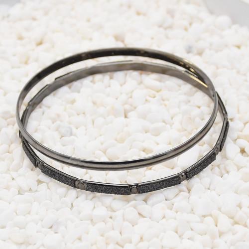 B-0995 7Pcs/Set Alloy ring bracelet punk shiny Bangle Bracelet nightclub black jewelry  For Women