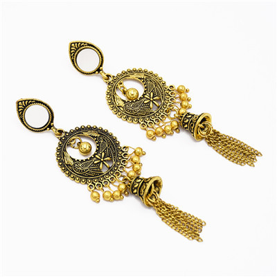 E-5535 Indian Lens Bell Round Drop Dangle Earring for Woman Fashion Accessoires