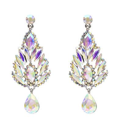 E-5538 Rhinestone Flower Earrings Drop Dangle Earring for Woman Fashion Accessoires