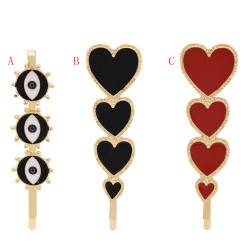 F-0700 Korea Fashion Eye Hair Clip For Women Heart Hairpins Barrettes Fashion Hair Accessories Gift