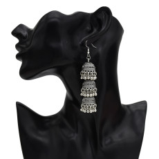 E-5546 Indian Earrings Lens Bell Round Drop Dangle Earring for Woman Fashion Silver Gold Accessoires