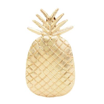 F-0701 Cute Golden Pineapple Shape Hairpin Hair Accessories