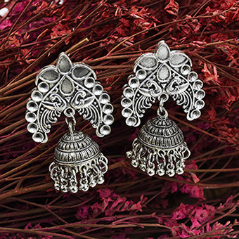 E-5554  4 Styles Of Ethnic Vintage Silver Hanging Earrings Gypsy Indian Clock Boho Jewels