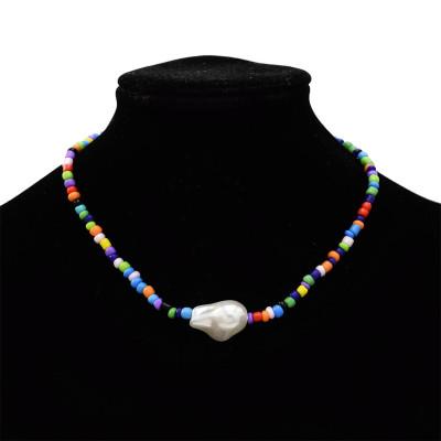 N-7321 Beaded fashion colorful boho necklace beads jade daily elegant ladies necklace
