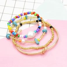 B-1000 4 pieces / set of alloy ring bracelet beaded jade fashion boho jewelry For Women