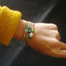 B-0993 2019 New Simple Bohemian Handmade Beaded Bracelet Bell Bangle Bracelet for Women Girl Gift Jewelry