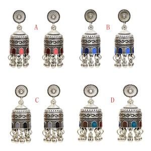 E-5561  Indian Vintage Ethnic Style Tassels Earrings for Women Long Tassel Bells Drop Earrings Afghan Egypt Gypsy Turk Jewelry