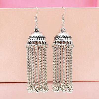 E-5563 Indian Earrings For Women Gypsy Bohemian National Long Tassel Earrings Vintage Bell Earrings
