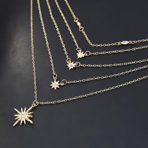 N-7324 Golden necklace tassel long fashion simple  elegant wedding jewelry