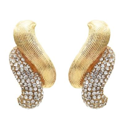 E-5575 2  Colors Simple Style Elegant Rhinestone Stud Earring for Woman Party Earring