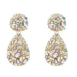 E-5580 New Fashion Shiny Rhinestone Drop Earrings For Women  Crystal Elegant Statement Earrings