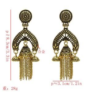 E-5582 Bohemia New Tassel Bell Long Dance Earrings Women Elegant Pop Earrings