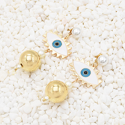 E-5583 Big Eyes Metal Earring Fashion Trend Suitable For Ladies Party Holiday Jewelry Gift