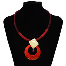 N-7327 Four color simple atmospheric fashion alloy acrylic necklace suitable for any occasion acrylic jewelry