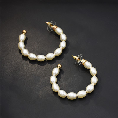 E-5613 Fashion Round Pearl Auricle Ear Cuff Stud Earring for Woman
