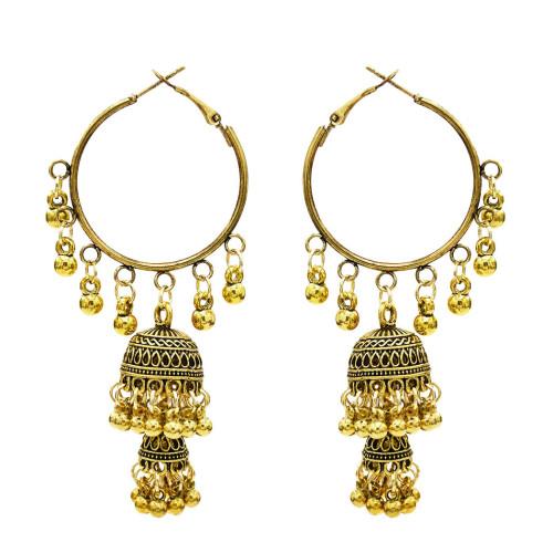 E-5620 European and American new tassel bell ball ladies fashion pop earrings
