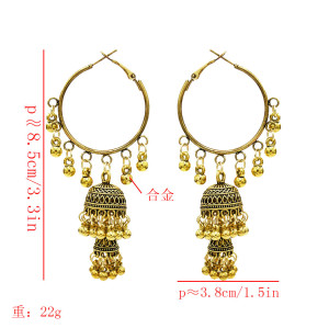 E-5620 European and American new tassel bell ball ladies fashion pop earrings