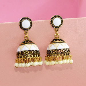 E-5629 3 Color Compact Simple Fashion Alloy Acrylic Earrings Jewelry For Any Occasion