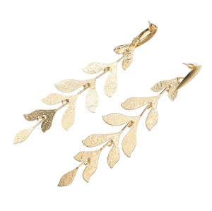 E-5632 Japan and South Korea new branches willow alloy ladies popular earrings