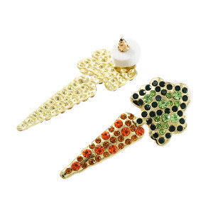 E-5638 Carrot Earrings Inlaid With Rhinestone Earrings Suitable For Ladies Party Holiday Jewelry