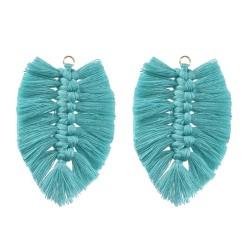 E-5640 Bohemian eight Color Silk Knot Leaf Leaf Earrings Women's Pop Everyday Earrings