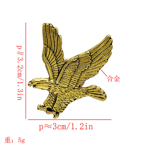 P-0448 2020 New Brooch Jewelry Gold Silver Eagle Brooch For Men And Women