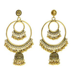 E-5646 2 Color Fashion Simple Alloy Round Earrings Suitable For Any Occasion Jewelry